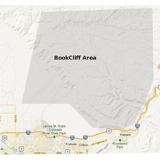 Little Bookcliffs Area Colorado West Outdoors: Colorado Map Book At Usa Maps